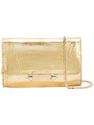 Judith Leiber Couture Sloane Bag Leather Metallic