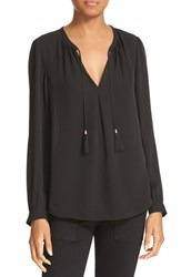 Joie Women's 'Calla' Split Neck Silk Blouse
