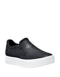 Timberland Mayliss Textured Leather Slip On Sneakers Black