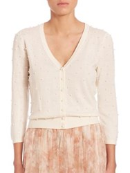 Jenny Yoo Perla Embellished Cardigan Light Mint Ivory Blush
