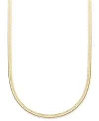 Giani Bernini 24K Gold Over Sterling Silver Necklace 20' Herringbone Chain