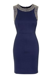 Becky Bodycon Mini Dress By Tfnc Navy Blue