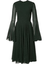 Rosetta Getty Bell Sleeve Dress Black
