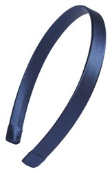 L. Erickson Silk Charmeuse Headband Blue Navy
