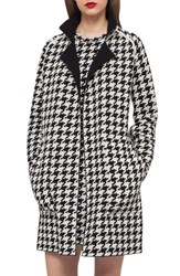 Akris Women's Reversible Houndstooth Double Face Cashmere Coat