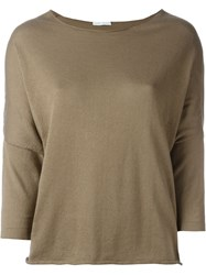 Societe Anonyme Batwing Sleeve Jumper Brown