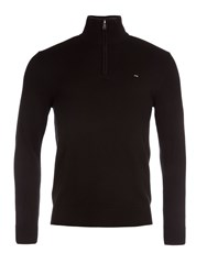Eden Park Men's Cotton Sweater With Zip Up Detail Black