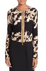 Women's Tracy Reese Floral Zip Front Cardigan