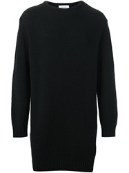 Soulland 'Wiese' Long Honey Comb Sweater Black