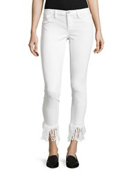 Blank Nyc Cropped Frayed Jeans White Lines