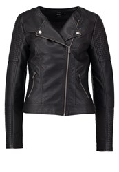 Only Onlcarly Faux Leather Jacket Black