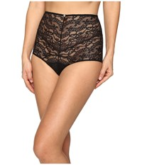 Versace Lace High Waisted Panty Black Women's Underwear