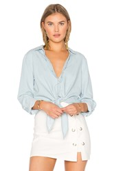 Soft Joie Crysta Button Up Blue
