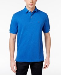 Tommy Hilfiger Men's Classic Fit Ivy Polo Nautical Blue