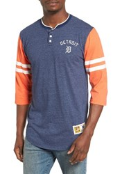 Mitchell And Ness Men's Home Stretch Detroit Tigers Henley