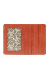 Hobo Women's 'Euro Slide' Credit Card And Passport Case Coral