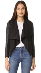 David Lerner Asymmetrical Draped Jacket Classic Black
