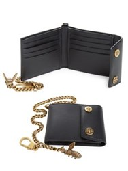 Gucci Leather Chain Wallet Black