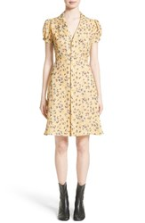 Junya Watanabe Women's Floral Chiffon And Lame Shirtdress