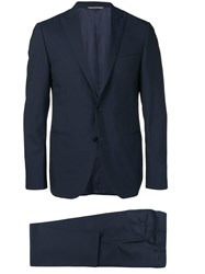 Canali Fitted Formal Suit Blue