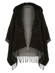 Dorothy Perkins Faux Fur Collar Cape