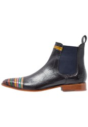 Melvin And Hamilton Riley 4 Boots Multicolor Black Navy