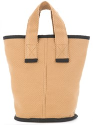 Cabas Small Laundry Tote Brown