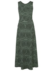 Lilly Sarti Knit Maxi Dress Green