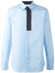 Marni Contrast Placket Shirt Blue