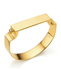 Monica Vinader Signature Wide Bangle Female Gold