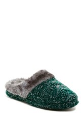 Isaac Mizrahi Camden Faux Fur Slipper Green