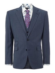 New And Lingwood Coledale End On End Ticket Pocket Suit Jacket Blue