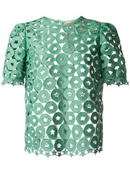 N 21 No21 Broderie Anglaise Top Green