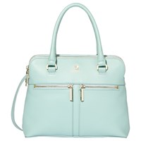 Modalu Pippa Small Leather Grab Bag Aquamarine