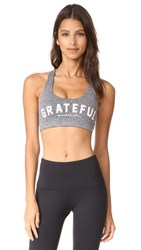 Spiritual Gangster Grateful Arch Paradise Bra Heather Grey