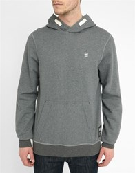 G Star Charcoal Varos Hooded Sweatshirt Grey