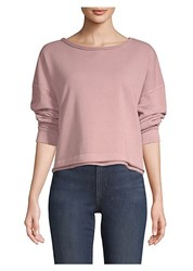 Amo Cropped Sweatshirt Rose Gold