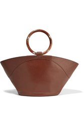 The Row Market Leather Tote Chocolate
