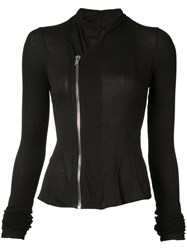 Rick Owens Lilies Fitted Jacket Women Cotton Nylon Viscose 40 Black
