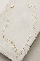 Anthropologie Key And Cosmos Layering Necklace Dark Yellow