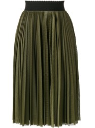 Givenchy Perforated Pleated Skirt Green