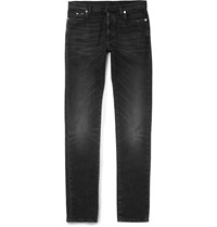 Maison Martin Margiela Slim Fit Washed Stretch Denim Jeans Black