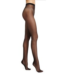 Wolford Paris Sheer Tights With Crystal Back Black Gold