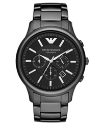 Emporio Armani Watch Men's Chronograph Black Ceramic Bracelet 47Mm Ar1474