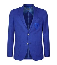 Billionaire Textured Summer Jacket Male Blue