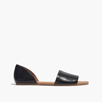 Madewell The Thea Sandal In Black Leather True Black