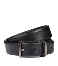 Lanvin Reversible Leather Belt Unisex Black