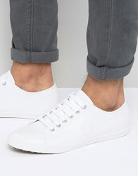 Fred Perry Kingston Leather Plimsolls White