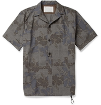 Kolor Printed Wool Shirt Gray