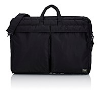 Porter Men's Tanker Briefcase Black Blue Black Blue